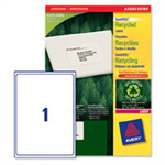 Avery QuickPEEL White 100pc(s) self-adhesive label