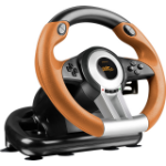 SPEEDLINK DRIFT O.Z. Steering wheel + Pedals PC Analogue / Digital USB Black,Grey,Orange