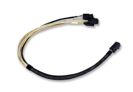 Broadcom L5-00219-00 Serial Attached SCSI (SAS) cable Black