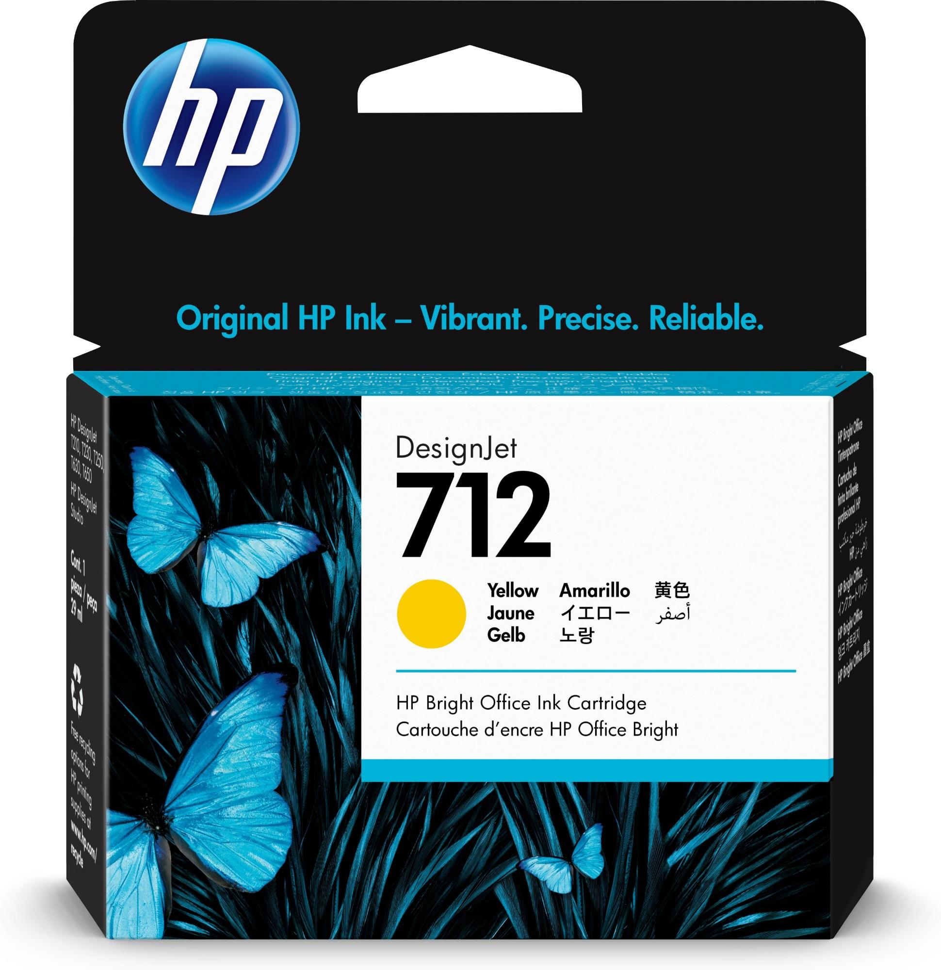 HP 712 Original Amarillo 1 pieza(s) Rendimiento estándar