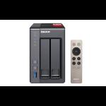 QNAP TS-251+ NAS Tower Ethernet LAN Grey TS-251+-2G/16TB-RED