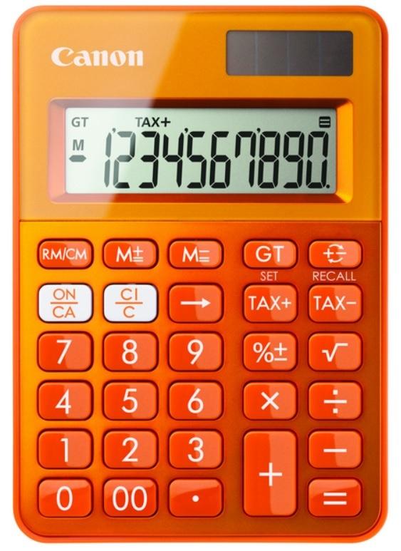 Canon LS-100K calculadora Escritorio Calculadora básica Naranja