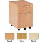 JEMINI FF JEMINI 2 DRAWER MOBILE PED OAK