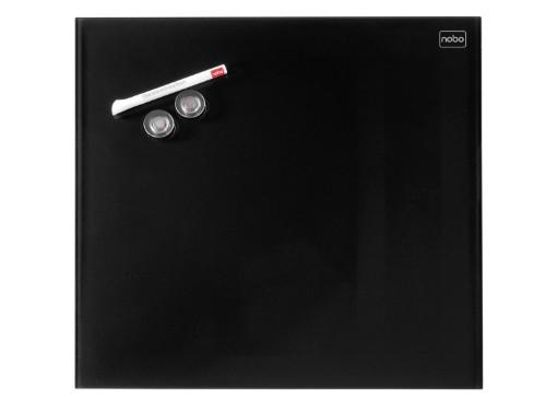 Nobo Diamond Glass Board Magnetic Black 450x450mm Retail Pack