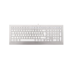 CHERRY STRAIT 3.0 keyboard USB French Silver, White