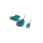 Cablenet 40 1029 serial cable Blue,Grey 2 m USB 2.0 D9