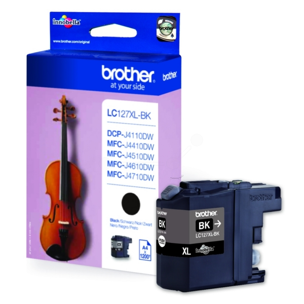 Brother LC-127XLBK Ink cartridge black, 1.2K pages, 9ml