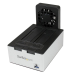 StarTech.com USB 3.0 Dual SATA Hard Drive Docking Station with integrated Fast Charge USB Hub UASP support and Fan - Black