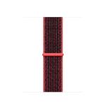 Apple 38mm Bright Crimson/Black Nike Sport Loop