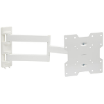 "Proper Heavy-Duty Swing Arm TV Bracket White for 23''-43"" 43"" White flat panel wall mount"