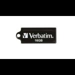 Verbatim Micro USB Drive 16GB - Black USB flash drive 2.0 USB Type-A connector