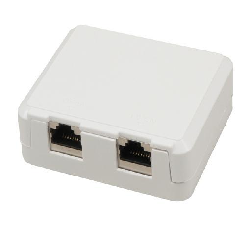 MCL BM-CAT6B/2 caja de conexiones de red Cat6 Blanco
