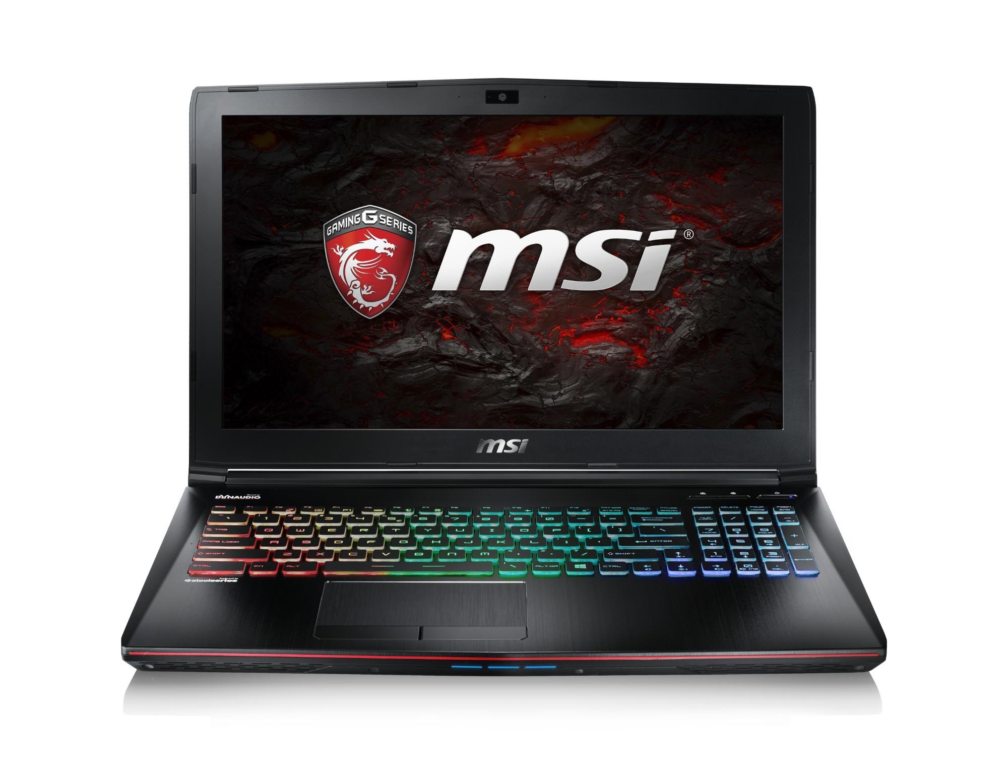 "MSI Gaming GE62 7RE(Apache Pro)-027UK 2.8GHz i7-7700HQ 15.6"" 1920 x 1080pixels Black Notebook"