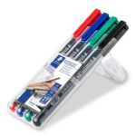 Staedtler Lumocolor 313 WP4 permanent marker Black,Blue,Green,Red 4 pc(s)