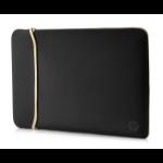 "HP Reversible Neoprene notebook case 39.6 cm (15.6"") Sleeve case Black, Gold"