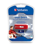 Verbatim 8GB Store 'n' Go 8GB USB 2.0 Red USB Flash Drive