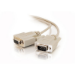 C2G 3ft DB9 M/F Extension Cable - Beige 0.9m Beige networking cable