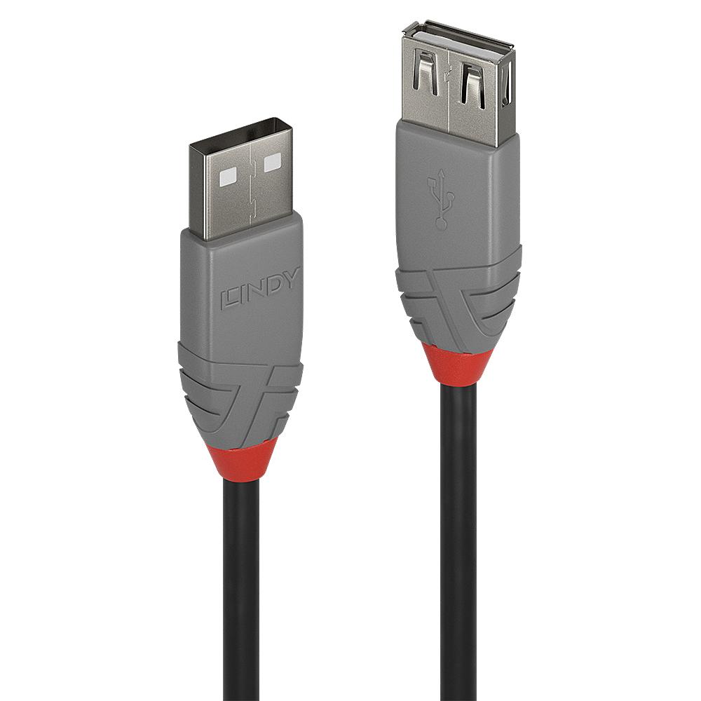 Lindy 36704 USB cable 3 m 2.0 USB A Black,Grey