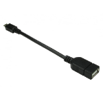 Cables Direct USB2-160OTG USB cable 0.14 m 2.0 Micro-USB B USB A Black