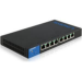 Linksys LGS308P Managed Gigabit Ethernet (10/100/1000) Power over Ethernet (PoE) Black,Blue