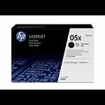 HP 05X originele high-capacity zwarte LaserJet tonercartridge, 2-pack