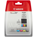 Canon CLI-521 C/M/Y/BK 7ml 7ml Black, Cyan, Yellow, Magenta ink cartridge