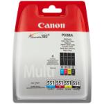 Canon CLI-521 C/M/Y/BK inktcartridge Original Zwart, Cyaan, Geel, Magenta Multipack 4 stuk(s)