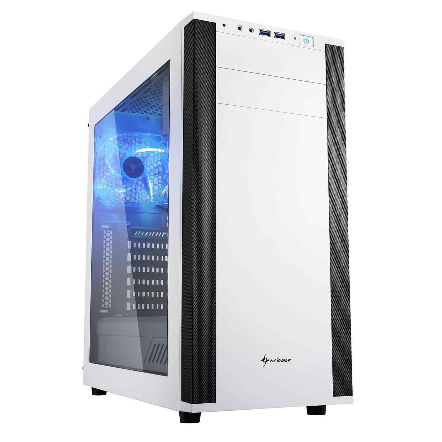 Sharkoon M25-W computer case Midi-Tower White