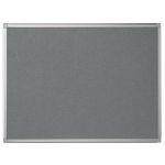 Bi-Office Maya Grey Felt Noticeboard Aluminium Frame DD