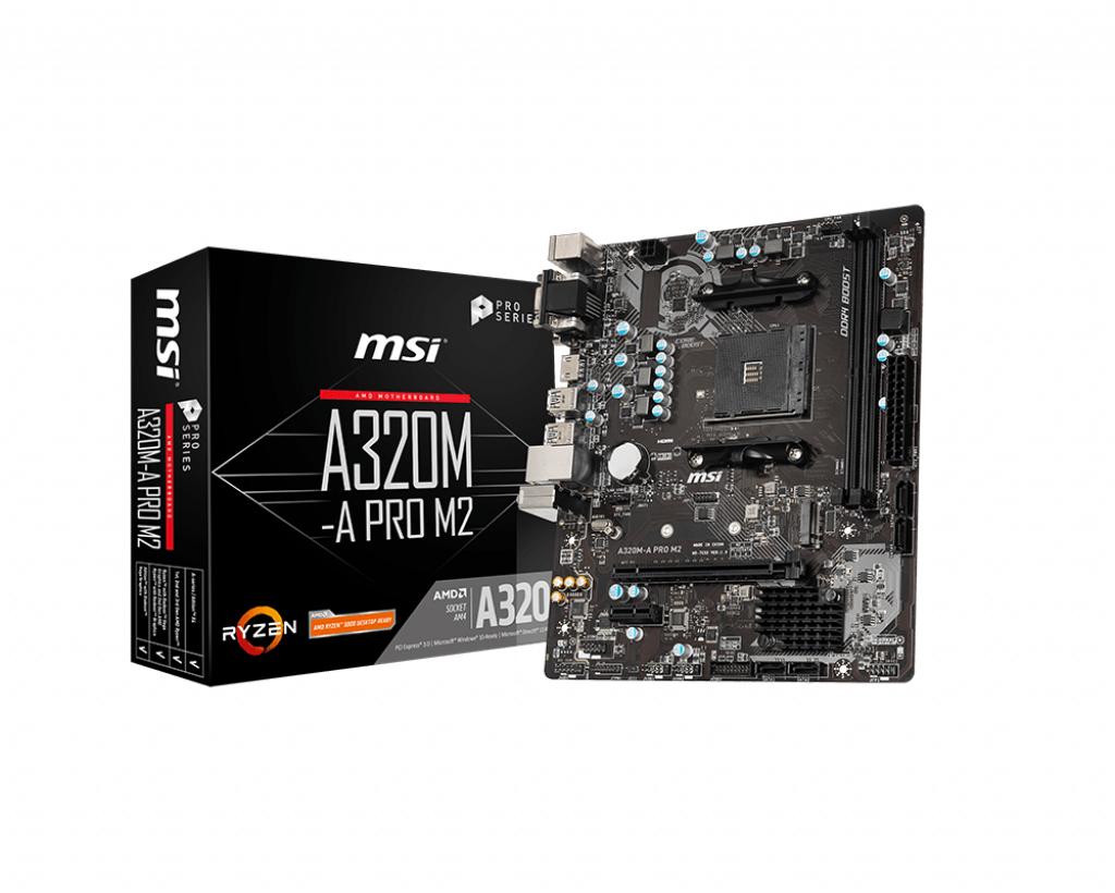 MSI A320M-A PRO M2 motherboard Socket AM4 Micro ATX AMD A320