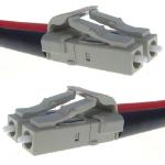 CONNEkT Gear LC/LC, 50/125, 3m fiber optic cable Turquoise