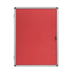 Bi-Office Enclore Red Felt Lockable Noticeboard 9xA4 DD