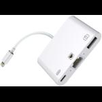 Microconnect W125648613 RJ45, Lightning, USB Lightning Hub White