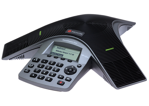 POLY SoundStation Duo teleconferencing equipment