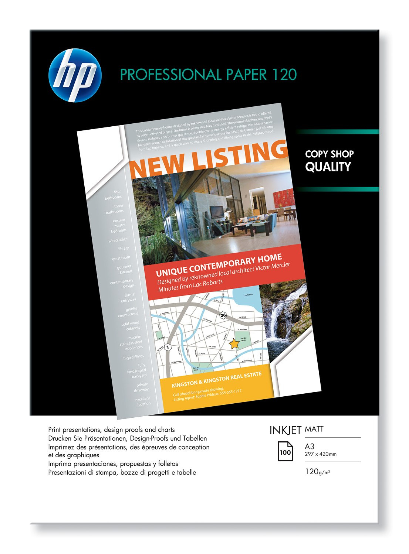 HP Q6594A papier voor inkjetprinter A3 (297x420 mm) Mat Wit