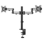 StarTech.com Desk Mount Dual Monitor Arm - Desk Clamp VESA Compatible Monitor Mount for up to 32 inch Displays - Ergonomic Articulating Monitor Arm - Height Adjustable/Tilt/Swivel/Rotating