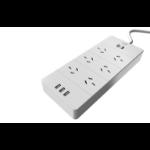 AEROCOOL ASA QA6A3U2 Power Board w/ 6 AC Outlet and 3 USB Charging Ports, 5V/2.4A  LS