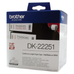 Brother WHITE CONTINUOUS PAPER ROLL 62MM X 15.24M (WITH BLACK/RED PRINT)