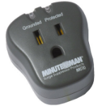 Minute Man MMS110 surge protector 1 AC outlet(s) 120 V Black