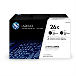 HP CF226XD (26X) Toner black, 9K pages, Pack qty 2