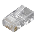 Black Box RJ-45, 100-Pack RJ45 Transparent wire connector