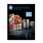 HP Laser Glossy Tri-fold Brochure Paper 150 gsm-150 sht/Letter/8.5 x 11 in printing paper