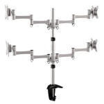 """Brateck Elegant 4 LCD Monitor Table Stand w/Arm & Desk Clamp VESA 75/100mm Up to 27"""""""