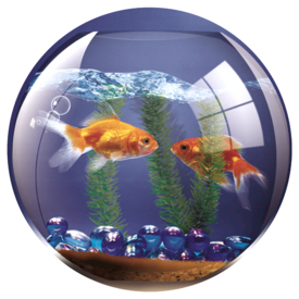 Fellowes Round Brite Mat Goldfish Bowl