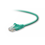 "Belkin Cat5e Patch Cable, 1ft, 1 x RJ-45, 1 x RJ-45, Green networking cable 11.8"" (0.3 m)"
