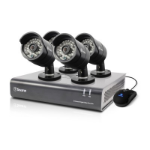 Swann SWDVK-844004-UK 8 Channel 720P Digital Video Recorder and 4 x PRO-A850 Cameras CCTV KIT