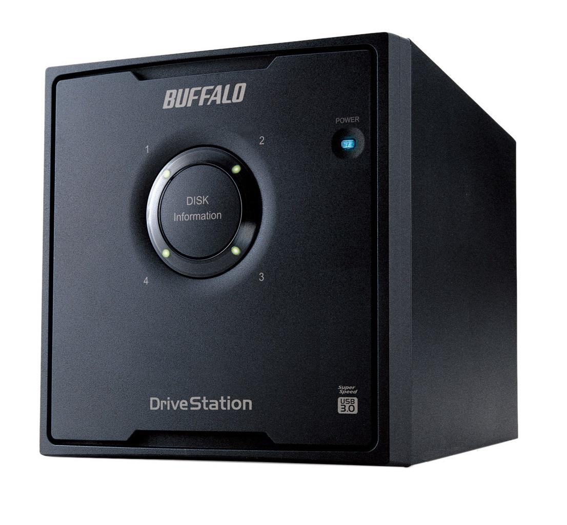 Buffalo DriveStation HD-QHU3 disk array 24 TB Desktop Zwart