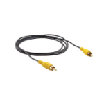 Kramer Electronics Composite Video Mini Coax Cable composite video cable 0.3 m RCA Black,Yellow