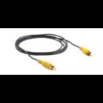 Kramer Electronics Composite Video Mini Coax Cable composite video cable 0.3 m RCA Black, Yellow