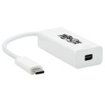 "Tripp Lite U444-06N-MDP8W video cable adapter 5.98"" (0.152 m) USB Type-C Mini DisplayPort White"